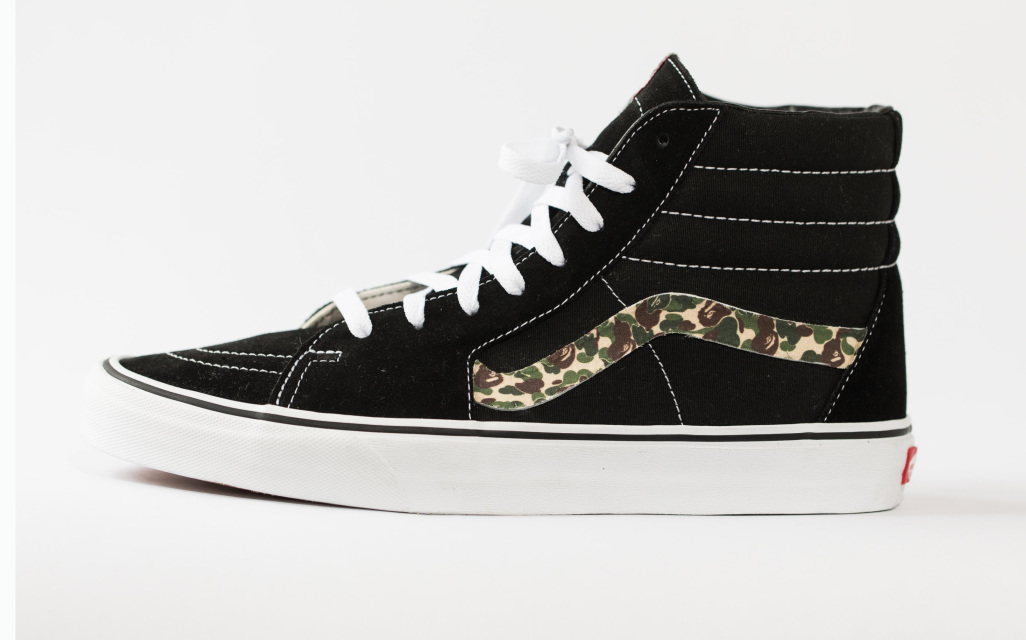 9c221d537cc1b2 VANS SK8-HI Original Mens Shoes Custom  Bape Camo  Edition