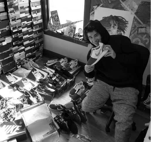 picture www.opckicks.com owner peter in his studio opc kicks custom nike shoes