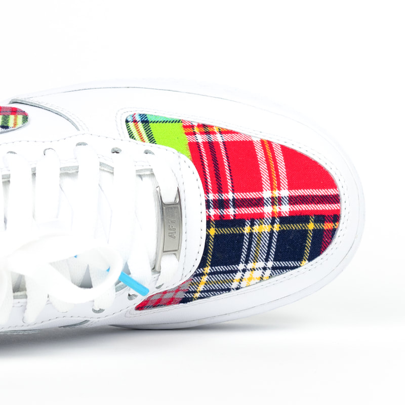 Custom air forces with plaid designed and made by OPC.