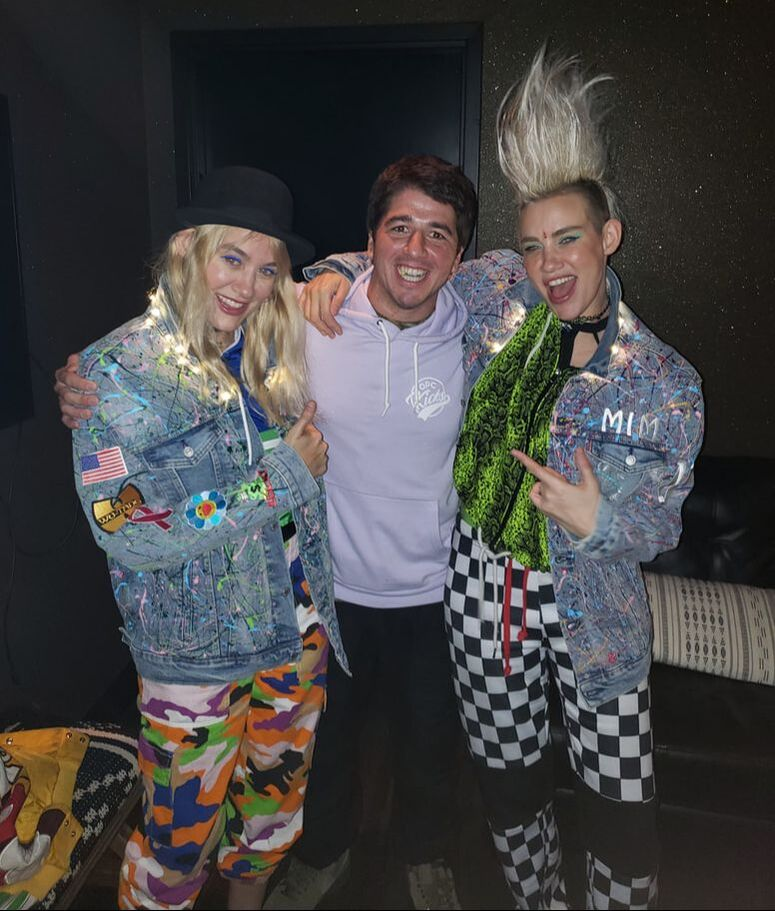 Custom Levi Jackets and sneakers made for Nervo by OPC Kicks