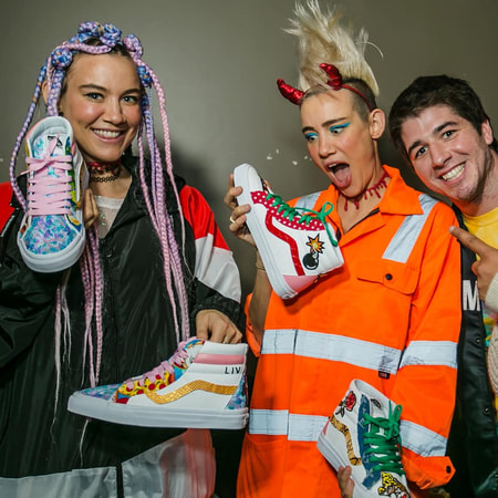Custom made vans for Nervo by OPC Kicks.