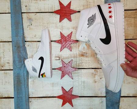 chicago custom nike air jordans made by opc kicks