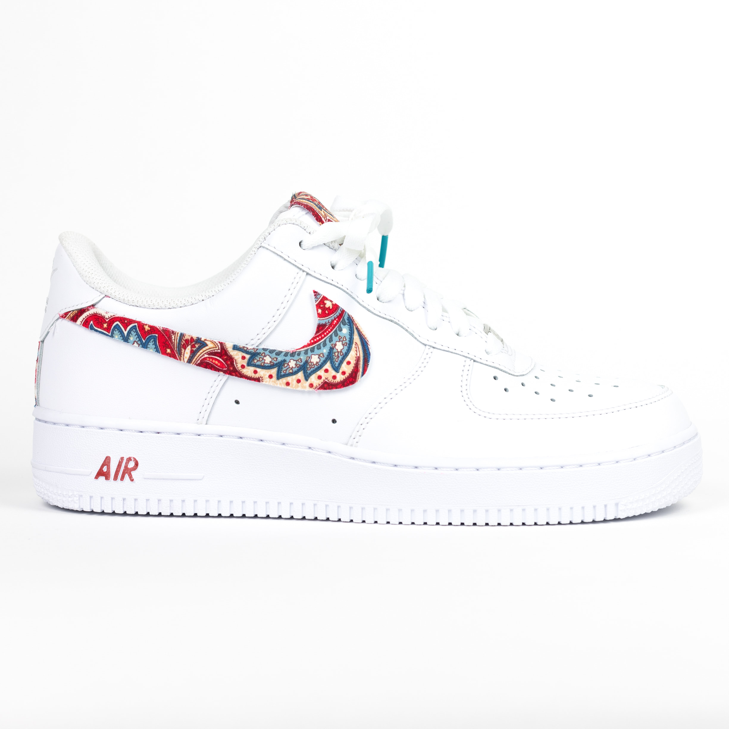 Nike Air Force 1 White Custom Paisley Edition